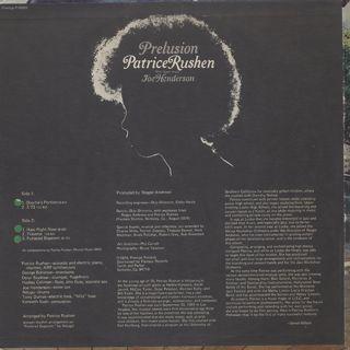 Patrice Rushen / Prelusion back
