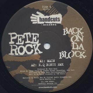 Pete Rock / Back On Da Block label