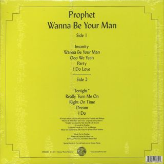 Prophet / Wanna Be Your Man back