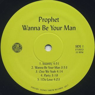 Prophet / Wanna Be Your Man label