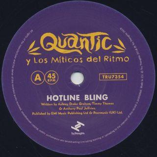 Quantic Y Su Conjunto Los Miticos Del Ritmo / Hotline Bling label