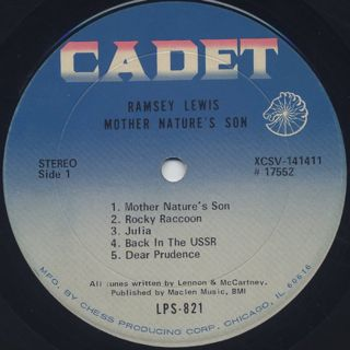 Ramsey Lewis / Mother Nature's Son label