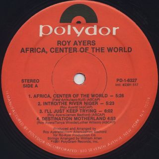 Roy Ayers / Africa, Center Of The World label