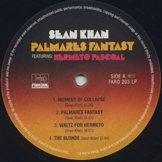 Sean Khan / Palmares Fantasy featuring Hermeto Pascoal label