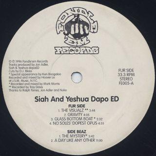 Siah And Yeshua Dapo ED / S.T.