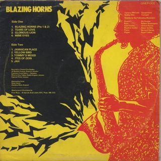 Tommy McCook & Bobby Ellis / Blazing Horns back