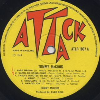 Tommy McCook / Tommy McCook label