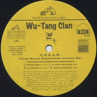 Wu-Tang Clan / C.R.E.A.M. (Cash Rules Everything Around Me) label
