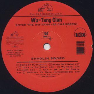 Wu-Tang Clan / Enter The Wu-Tang (36 Chambers) label