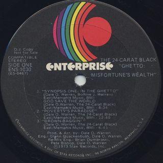 24 Carat Black / Ghetto: Misfortune's Wealth label