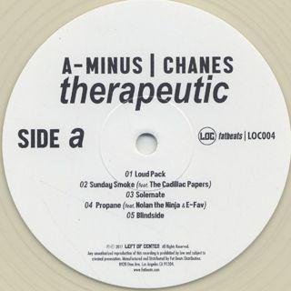 A-Minus & Chanes / Therapeutic label
