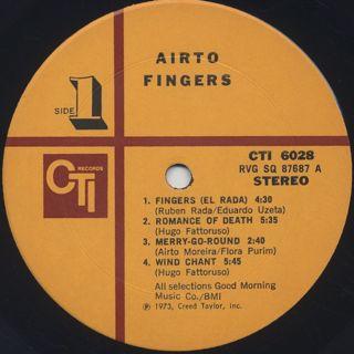Airto / Fingers label