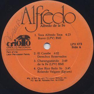 Alfredo de la Fe / Alfredo label
