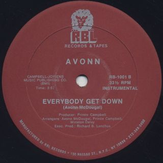 Avonn / Everybody Get Down back
