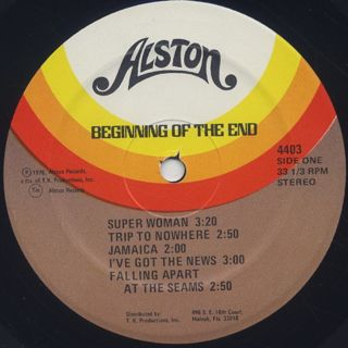 Beginning Of The End / Beginning Of The End label