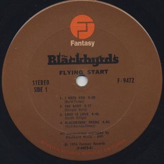 Blackbyrds / Flying Start label