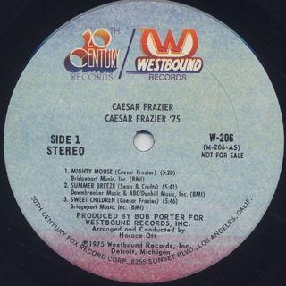 Caesar Frazier / 75 label