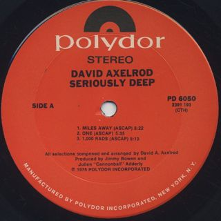 David Axelrod / Seriously Deep label