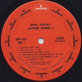 Don Covay / Super Dude I label