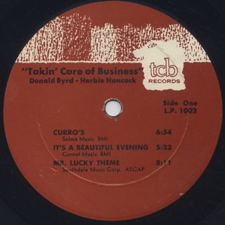 Donald Byrd with Herbie Hancock / Talkin' Care Of Business label