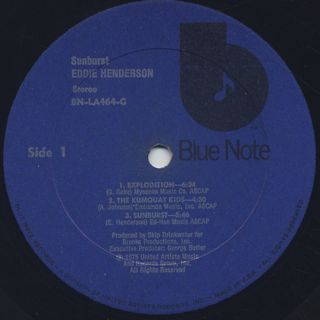Eddie Henderson / Sunburst label