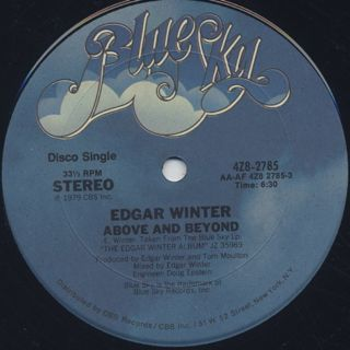 Edgar Winter / Above And Beyond back