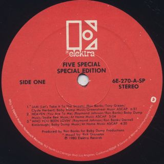Five Special / Special Edition label
