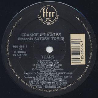 Frankie Knuckles presents Satoshi Tomiie / Tears label