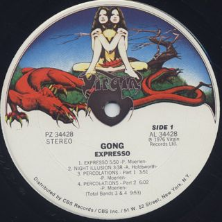 Gong / Expresso label