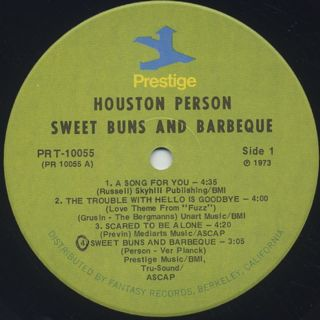 Houston Pearson / Sweet Buns & Barbeque label