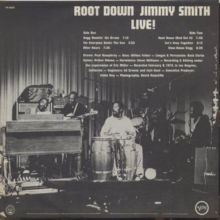 Jimmy Smith / Root Down Live! back