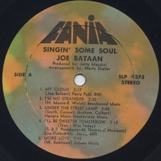 Joe Bataan / Singin' Some Soul label