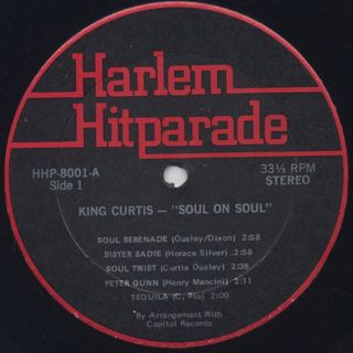 King Curtis / Soul On Soul label