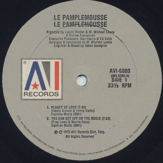 Le Pamplemousse / Planet Of Love label