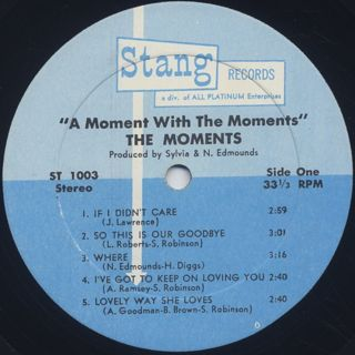 Moments / A Moment With The Moments label
