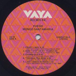 Mongo Santamaria / Fuego label