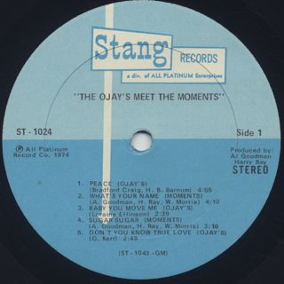 O'Jays Meet The Moments / S.T. label