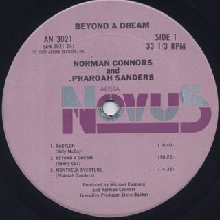 Pharoah Sanders & Norman Connors / Beyond A Dream label