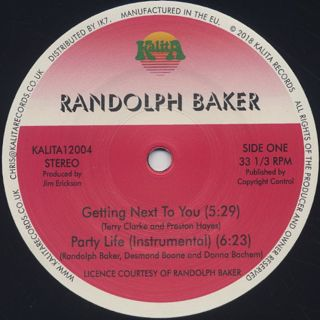 Randolph Baker / Reaching For The Stars label
