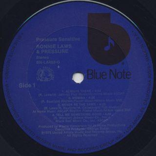 Ronnie Laws / Pressure Sensitive label
