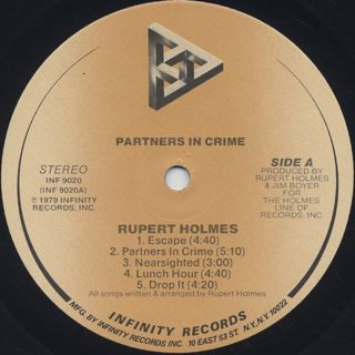 Rupert Holmes / Partners In Crime label
