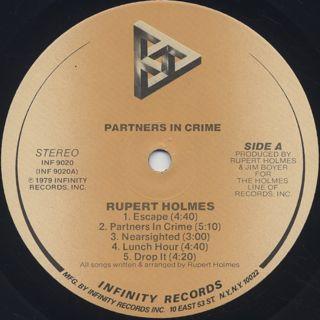 Rupert Holmes / Partners In Crime label