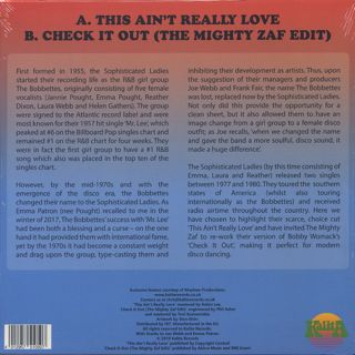 Sophisticated Ladies / This Ain't Really Love back