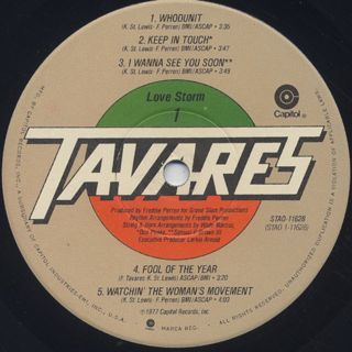 Tavares / Love Storm label