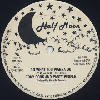 Tony Cook And Party People / Do What You Wanna Do back
