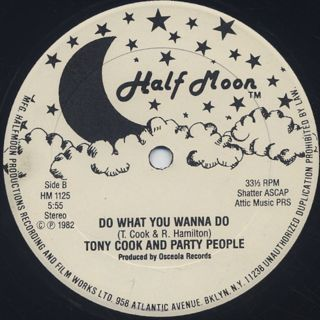 Tony Cook And Party People / Do What You Wanna Do label