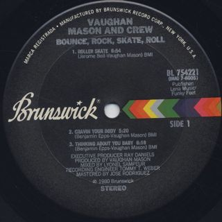 Vaughan Mason And Crew / Bounce, Rock, Skate, Roll label