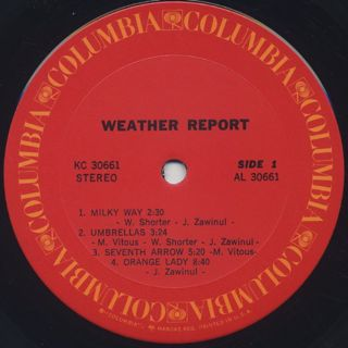 Weather Report / S.T. label