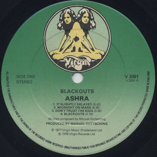 Ashra / Blackouts label