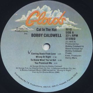 Bobby Caldwell / Cat In The Hat label